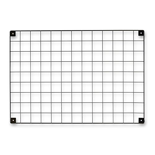 Shopfitting Warehouse Black Grid Mesh Panel - Memo Board, Notice Board, Photo Display - with Built-in Wall Brackets, H692 x W997 mm