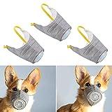 調整可能な犬用マスク、3ピースの小型から大型犬用の 犬用マズル保護マスク、空気汚染物質の防曇/防塵/中古の煙、ペット用マスク