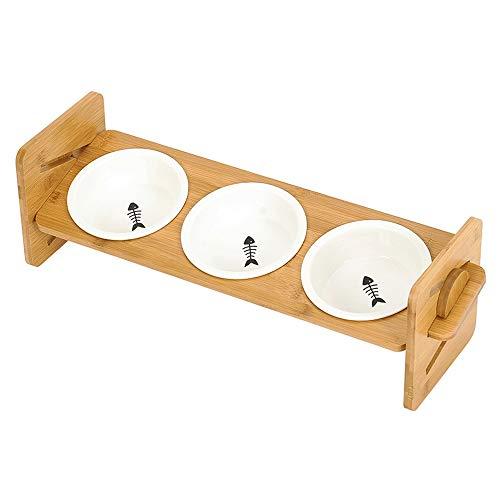Xiao Long Ceramic Cat Bowl Dog Rice Bowl Abtropfbrett Adjustable Abtropfbrett Katzenfutter Schüssel Anti-Spitze Cat Food Bowl Trinkwasser Essen Bowl Pet Supplies (2 Arten). hundekäfig (Size : B)