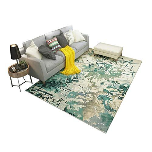 Woonkamerdecoratie, minimalistische stijl, modern, salontafel, bank, Noors, slaapkamer, nachtkastje, mozaïek, bloemen, 120 × 160 cm 140×200cm