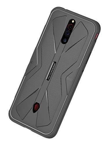 NOKOER Hülle für Nubia Red Magic 5G, TPU-Material Weich Superdünn Hülle, Slim Fit Wärmeableitung Handyhülle [Abriebfest] [rutschfest] - Grau