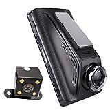 3.5インチIps画面170°広角レコーダーカーカメラFhd 1080P前面および背面カメラ、走行サイクル記録