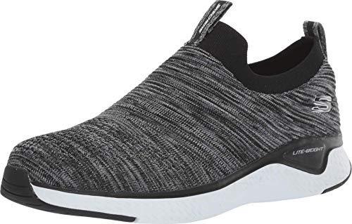 Skechers Herren Solar Fuse Slip On Sneaker, Blau (Black Mesh/Synthetic/White Trim BKW), 42 EU