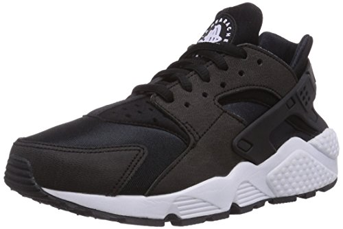 Nike Wmns Air Huarache Run, Scarpe da Ginnastica Basse Donna, Nero (Black/Black/White 006), 39.5 EU