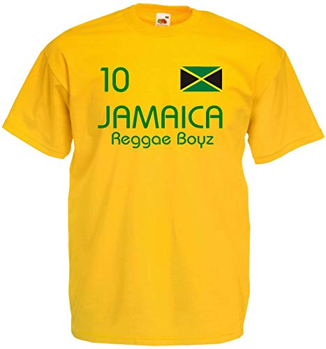 World of Shirt Herren T-Shirt Jamaica Reggae Boyz im Trikot Look