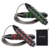ZELFVER Skipping Rope, 100% Tangle Free Jump Rope with Dual Ball Bearings, Ideal