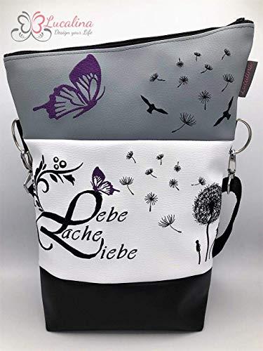 Handtasche Pusteblume Lebe Liebe Lache Tasche Foldover Schultertasche