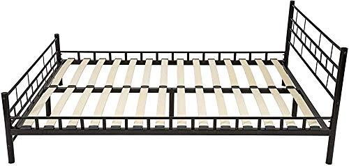 Stabile Metallpulver beschichteten Stahlrahmen ist mit einem Bettlattenrahmen leicht Basis 140x200 cm montieren,Black