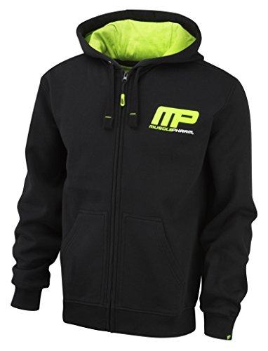 Muscle Pharm - Felpa con cappuccio Uomo, Verde (Green), L