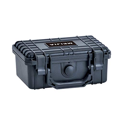 MEIJIA Portable All Weather Waterproof Camera Case with Foam,Fit Use of Drones,Cameras,Equipments,8.12x6.56x3.56inches, Elgeant Black