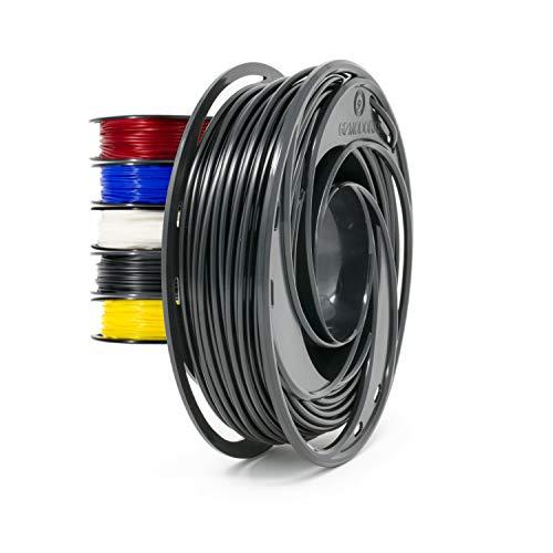 Gizmo Dorks Flexible TPU 3D Printer Filament 1.75mm 200g, Black