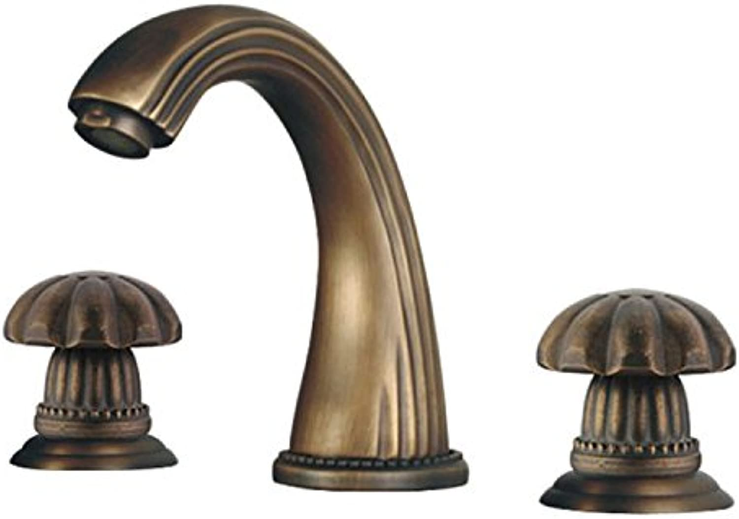 SHLONG Tap Copper Antique Three-Piece Set Split Bathtub Faucet