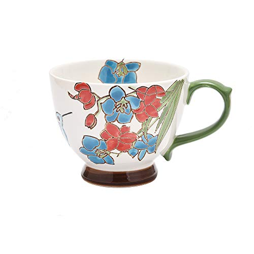 Petit Bonheur Tasse à Café en Céramique Dessiné à la Main Service pour Le Petit Dejeuner en Relief 450ML (02)