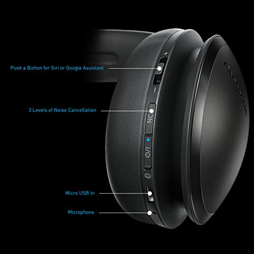 Panasonic Noise Cancelling Over The Ear Headphones with Wireless Bluetooth, Alexa Voice Control