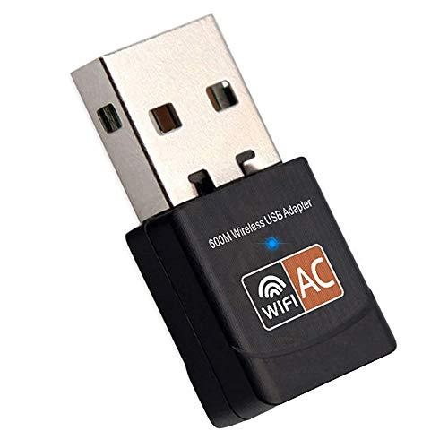 iAmotus WLAN Adapter, WiFi Stick 600Mbps Mini Dual Band 2.4GHz / 5GHz Wireless USB Adapter Empfänger 802.11ac/n/g/b Netzwerk Dongles,für PC,für Windows XP/7/8/10/Vista,Linux,Mac