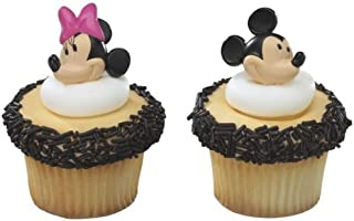 Mickey Mouse and Minnie Mouse Cupcake Rings Toppers, pack of 12