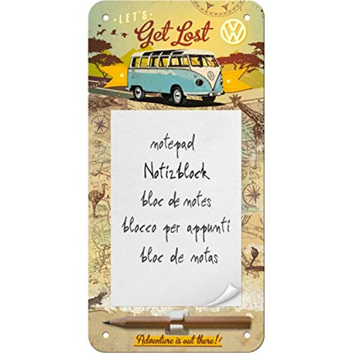 Nostalgic Art Notizblockschild, Stahl, Bunt, 20 x 10 cm (Notepad)