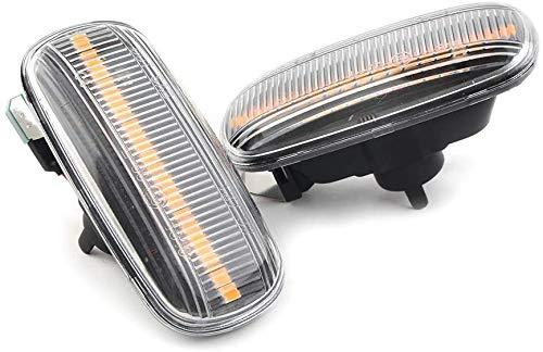 DBDSZYH Luces de Guardabarros, 2 Piezas de Luces de Guardabarros con Marcador Lateral dinámico dinámico automático para Audi A3 A4 B7 A6 A8 TT C5 C7 S3 S4 S6 Rs4 Rs6