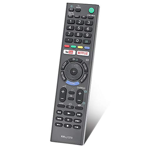 Gvirtue Universal Replacement Remote Control RM-L1370 Compatible for All Sony Bravia Smart TV-HDTV 3D LCD LED OLED UHD 4K HDR TVs, with Netflix, You Tube Buttons