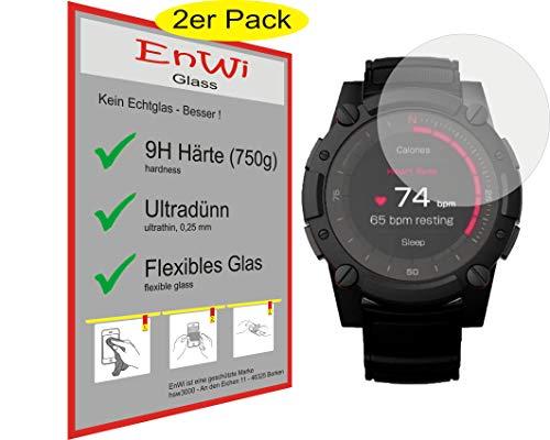 EnWi | 2X Panzer-Glas-Folie 9H Bildschirm-Schutz-Folie für Matrix PowerWatch 2