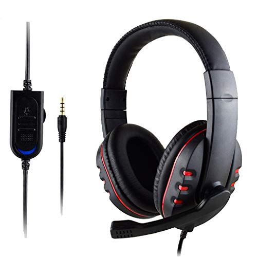 Z&HA Gaming Headset met Microfoon voor PS4 Xbox One PC, 3,5 mm Bedraad Over-head Stereo Over Ear Hoofdtelefoon Gamer met Microfoon, Volume Controle voor Nintendo Switch Tablet Telefoon Computer
