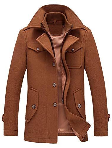 Heren warme wollen mantel opstaande kraag winterjas korte jas winter jas business vrije tijd unieke mode Completi gezellige overgang jas