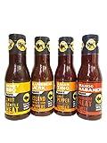 Buffalo Wild Wings Sauce Ultimate Sampler Bundle - Honey BBQ, Caribbean Jerk,...