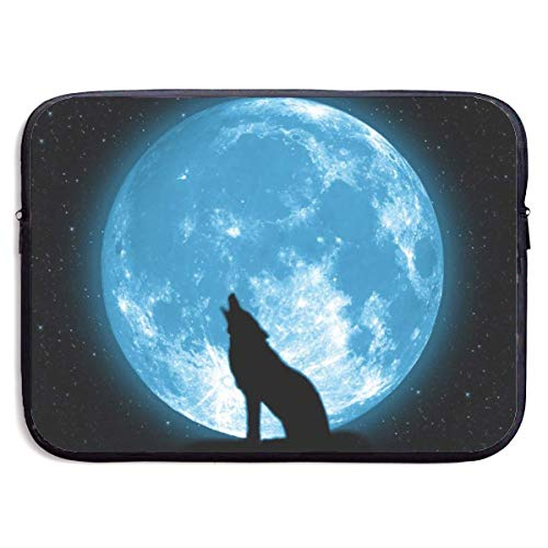 Laptop Case Moon Night Sky Star Shadow Wolf Laptop Sleeve Protective Case Water-Resistant Neoprene Briefcase 15 Inch
