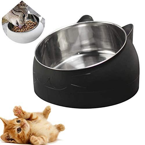 Haustier Fressnapf,rutschfeste Katzenschale,Futternäpfe Katzenfutter,Futternapf Katze Gekippte,katzenschüssel Set für Katze Welpe Futter und Wass