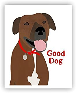 Brindle PitBull Poster Dog Art Pit bull 11 x 14