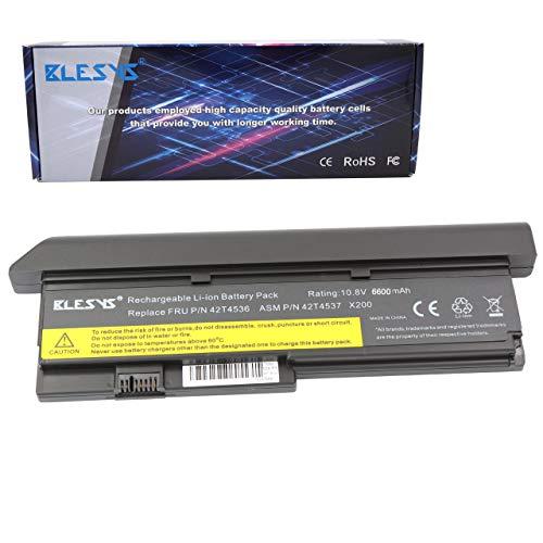 BLESYS 6600mAh 42T4536 Akku für IBM Lenovo ThinkPad X200 X200s X201 X201i X200 7459 Serie 42T4835 42T4647 Laptop 10.8V 9 Zellen
