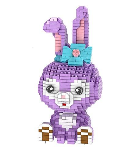 LNLJ Micro Diamond Blöcke Kaninchen Nanoblocks Models Spielzeug Sammlungsblöcke Geschenk (1020)