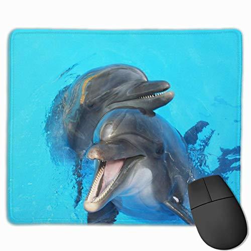 Muismat voor gaming, muismat voor bureau, muismat voor laptop, muismat voor twee Lovers Dolphin zwembad