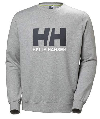 Helly Hansen HH Logo Crew Sudadera, Hombre, Gris, XL ✅