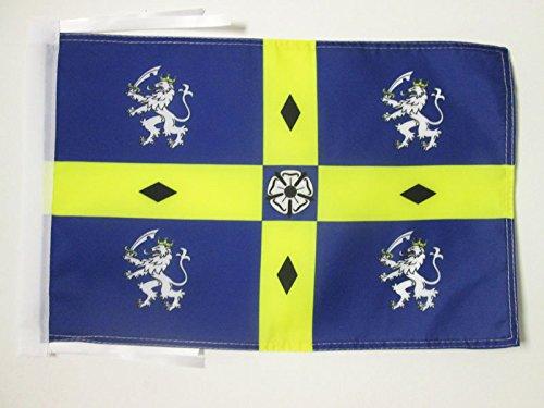 AZ FLAG Flagge GRAFSCHAFT Durham ALT 45x30cm mit Kordel - Durham Fahne 30 x 45 cm - flaggen Top Qualität