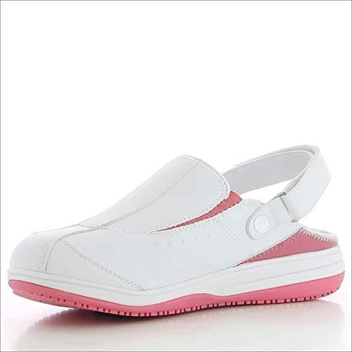 Oxypas Iris, Zapatos de Seguridad Mujer, Blanco (Fux), 37 EU (4 UK)