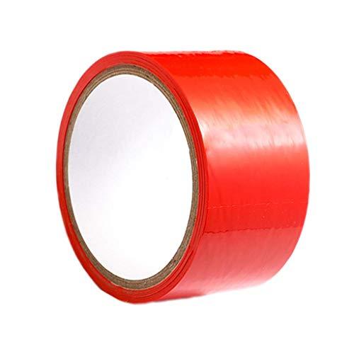 Binding Electrostatic Tape - Static Tape Nicht klebendes Bindeband Spiel Spielen Kostüm Männer Frauen Party Liebe Cosplay Spielzeug Paare Gebundenes Klebeband 16 Meter (rot) Teppichklebeband