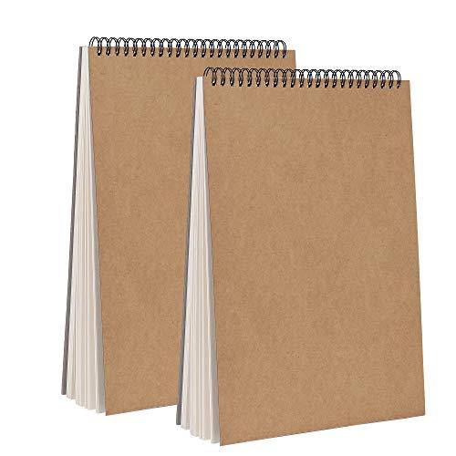 Bloc de Dibujo A4 Cuaderno Papel Texturizado, Bocetos y Dibujos Artistas para Niños Principiantes, para Acuarela, Pintura Acrílica y al Óleo - 160g/m² 30 Hojas (2 Pack)