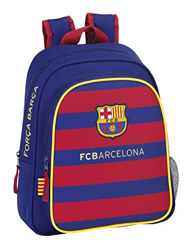 Safta FC Barcelona Mochila Infantil Adaptable, 28 x 34 x 10 cm, Color Azul Marino