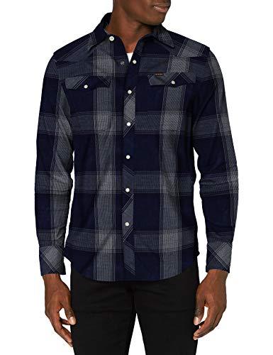 G-STAR RAW 3301 Slim Camisa, Sartho C549-c019 James - Camiseta, Diseño de Cuadros, L para Hombre