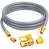 SHINESTAR 1/2-Inch Natural Gas Hose (12-Foot) with Quick Connect Fitting, Propane to Natural Gas Conversion Kit, Perfect for BBQ, Grill, Patio Heater and More NG Appliance