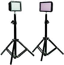 "Julius Studio 160LED Camera Light Kit, Including (2) Ultra High Power 160 LED Video Light Panel Digital Camera DSLR Camcorder LED Video Light (2) 28"" Tall Photography Mini Light Stand JGG2287"