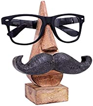 Aheli Wooden Nose Moustache Shape Carved Eyeglass Spectacle Sunglasses Holder Display Stand Home Decorative