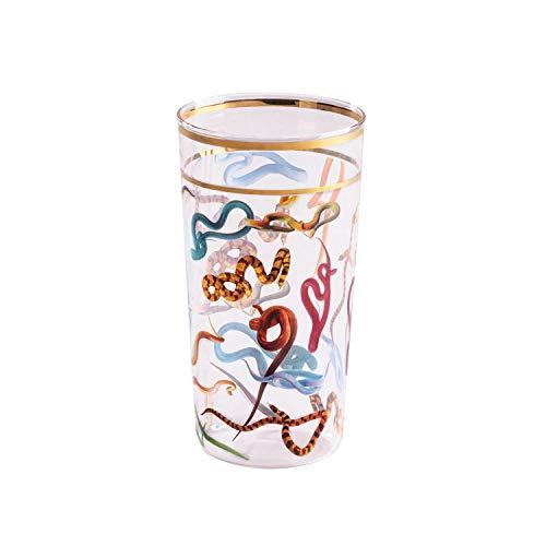 SELETTI TOILETPAPER Bicchieri in Vetro borosilicato, Serpenti