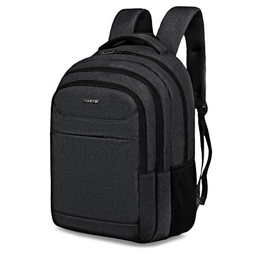 ROYALZ Rucksack fur Schule Uni Freizeit mit Laptop Fach 156 Zoll Studenten Schuler Herren Schul Tasche viele Facher gepolstert FarbeSchwarz