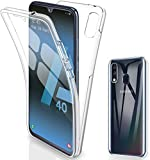 Galaxy A40 Case, Ultra Thin 360 [Front and Back Protection]