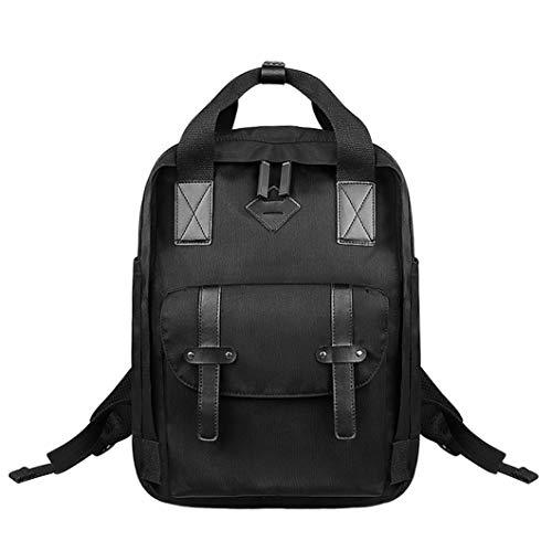 SXGX Mochila Impermeable, Bolsa de Escuela de Gran Capacidad para Hombres y Mujeres, Mochila de Viaje de Ocio al Aire Libre [29 * 41c * 14cm] Black