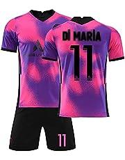 2021 Heren Kinder Jersey Parijs Trainingspakken Roze En Voetbal Jersey, Trainingspak Jongens Kinder Sportkleding Korte Mouwen Korte Broek Pak Heren