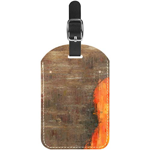 Etiquetas de equipaje para maleta de viaje, diseño de guitarra vintage, color marrón, 1 paquete