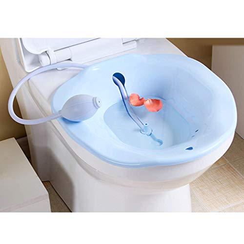 Sitzbad Sitzwanne Sitzbecken Sitzbadewanne Toiletteneinsatz Bidet 38,5x36,5x11cm (Blau)